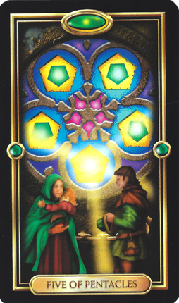 Disks-Earth-5ofPentacles-GildedTarot
