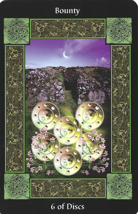 Disks-Earth-6ofDisks-CelticTarot