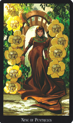 Disks-Earth-9ofPentacles-WitchesTarot