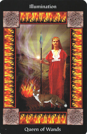Wands-Fire-QueenofWands-CelticTarot