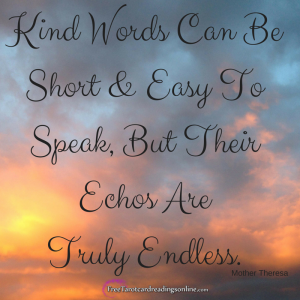 Kind Words Can Be Short & Easy To Speak,
